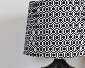 Update a boring old lampshade into something to suit your personal style. Go fun and trendy or classically cool all on the cheap!