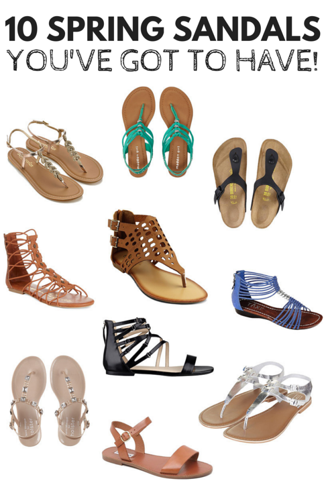 Book the pedicure, grab your polish, and get those toes ready for sandal season! Here are a collection of sandals that I'd LOVE to rock this season! (Apologies to anyone still dealing with snow this week… I see your Twitter updates and I'm crying inside a little, friends!) I can't wait to stretch my toes out and say goodbye to socks until Autumn rolls around again!