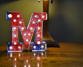 Custom DIY marquee letters could not be any easier! These cuties are Patriotic and great for the summer months.