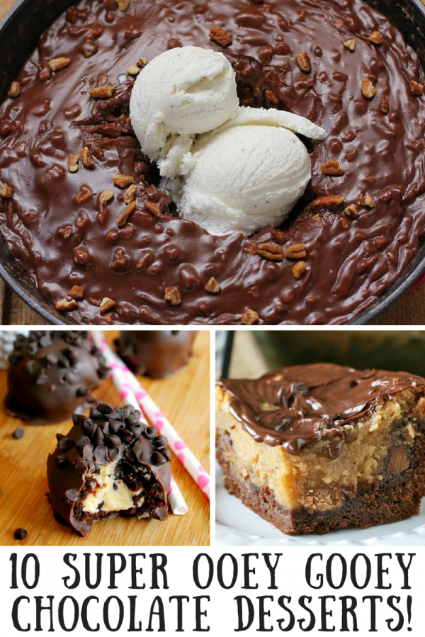 10 Ooey Gooey Chocolate Desserts