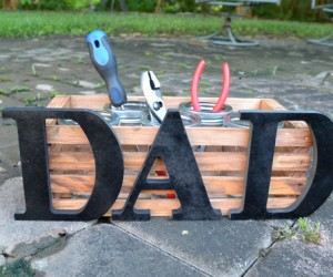 Maybe Dad has enough ties. Why not make an easy crate dad can store tools, pencils or whatever he's into.