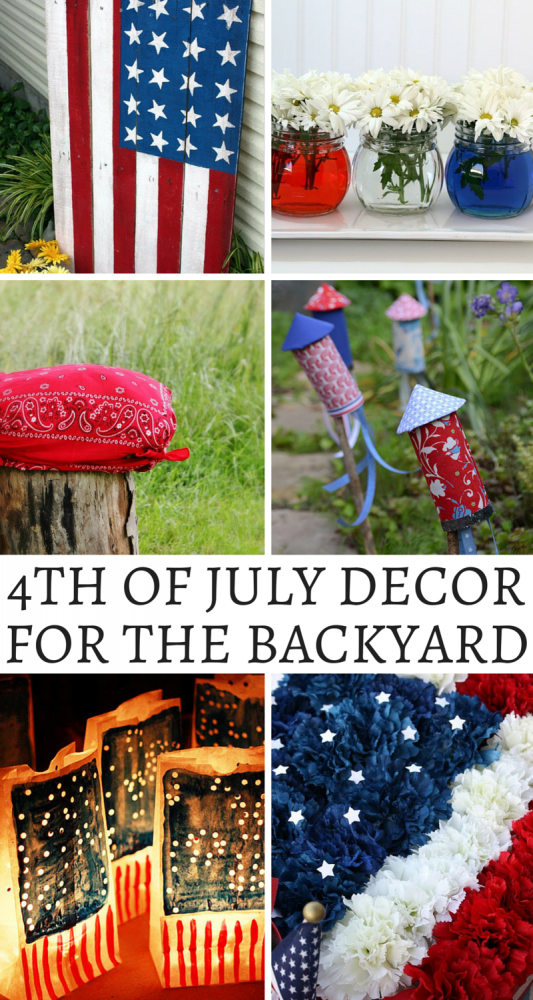 Fourth Of July Decor For Your Backyard!