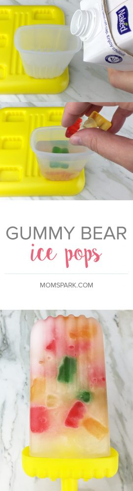 Gummy bear ice pops - so easy to make!