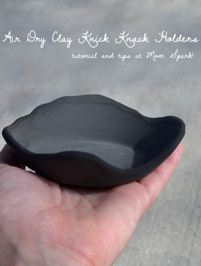 Making bowls out of clay is super trendy and really easy. Great for knick knacks or jewelery!