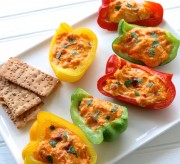 Buffalo Chicken Dip Stuffed Peppers
