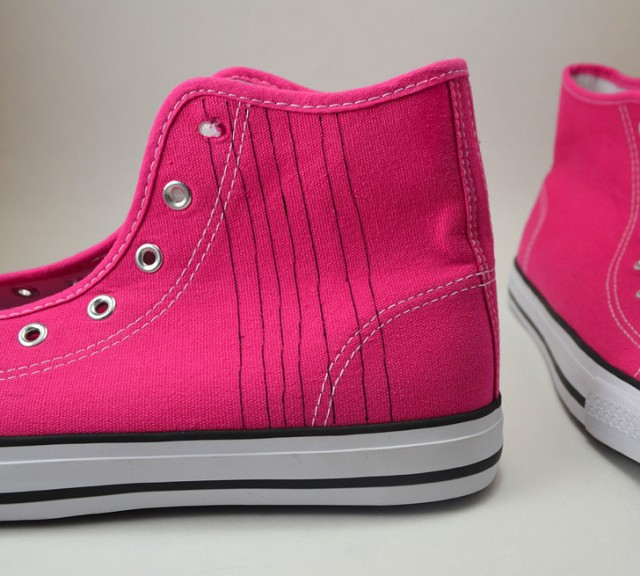 These easy herringbone hightop sneakers are the bees knees!