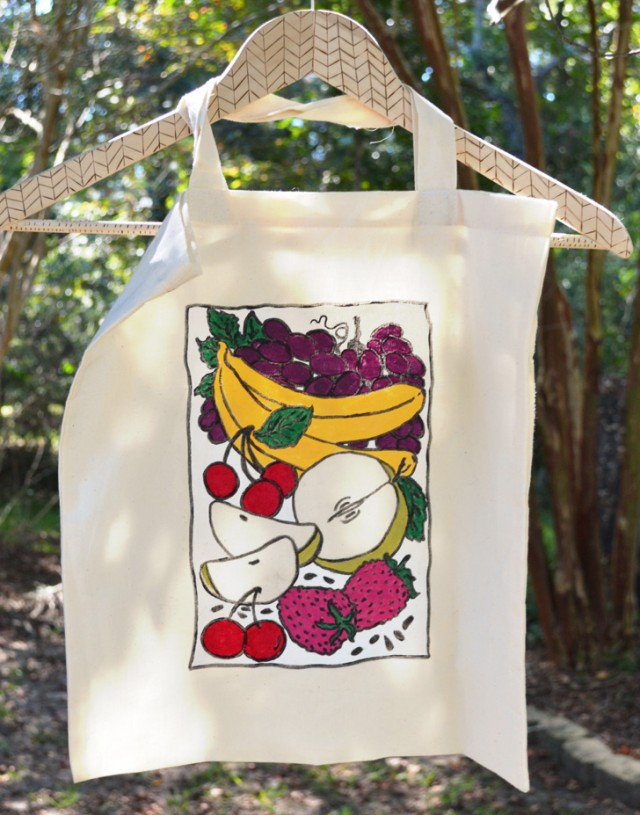Go green and DIY up some reusable grocery totes!