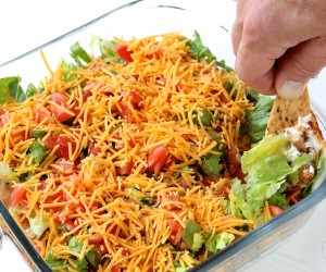 Ranch Chicken Club Layered Dip