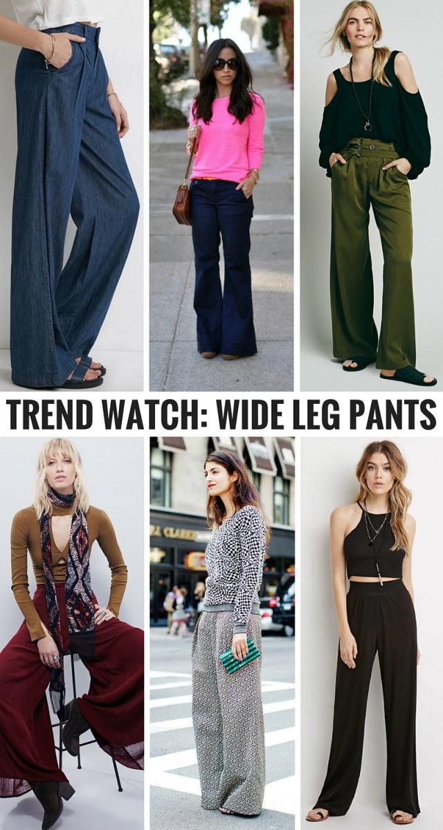 Trend watch- Wide Leg Pants