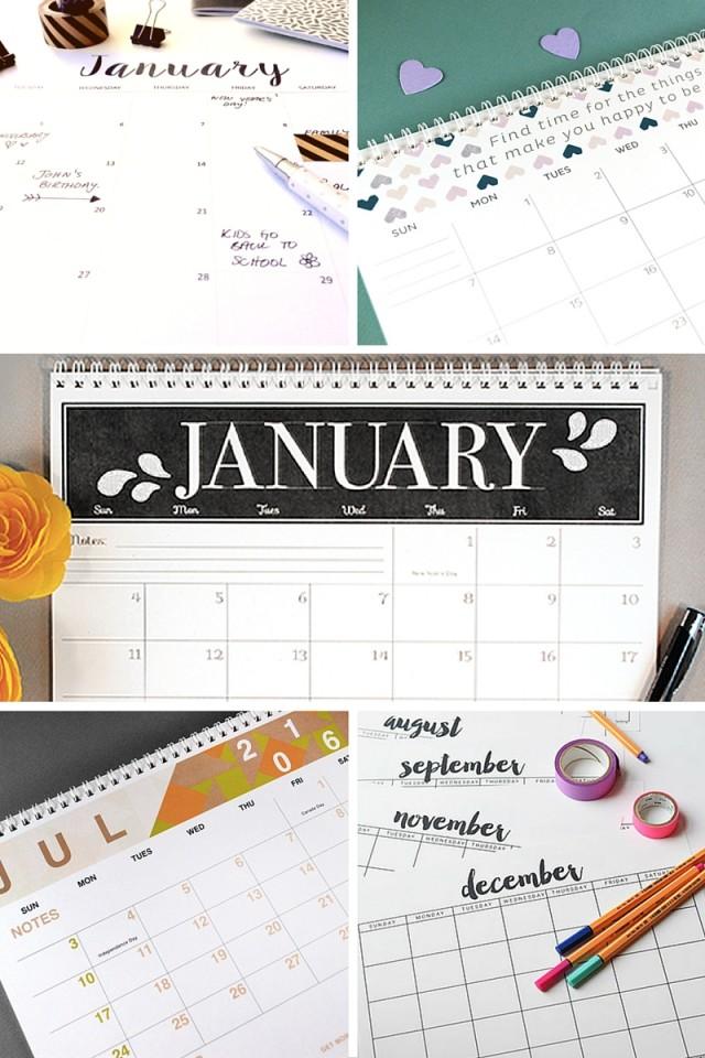 Free Printable Calendars For 2016