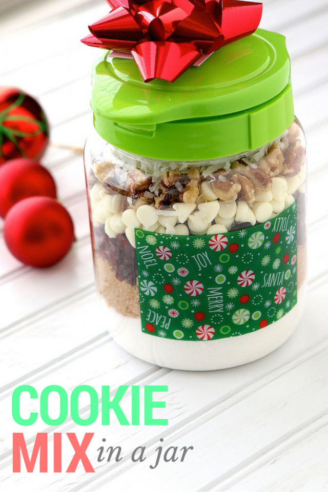 Cookie Mix In Jar Holiday Gift