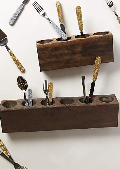 Wood Flatware Holder