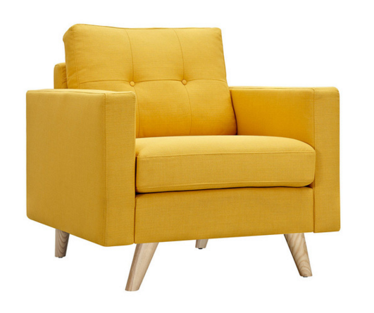 Graham Armchair in Yellow
