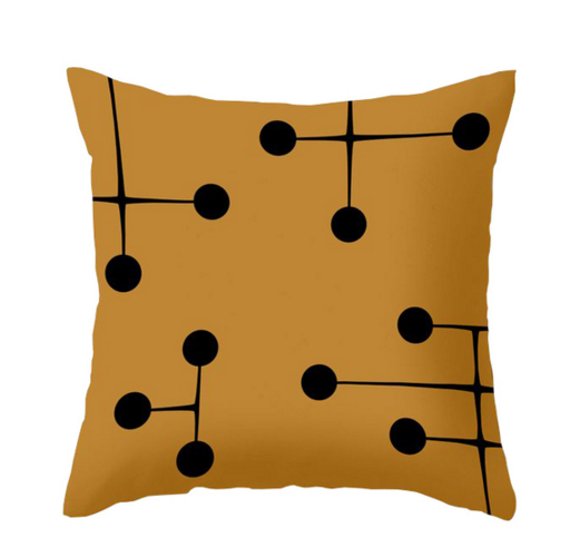 Dot Savvy Pillow in Mustard