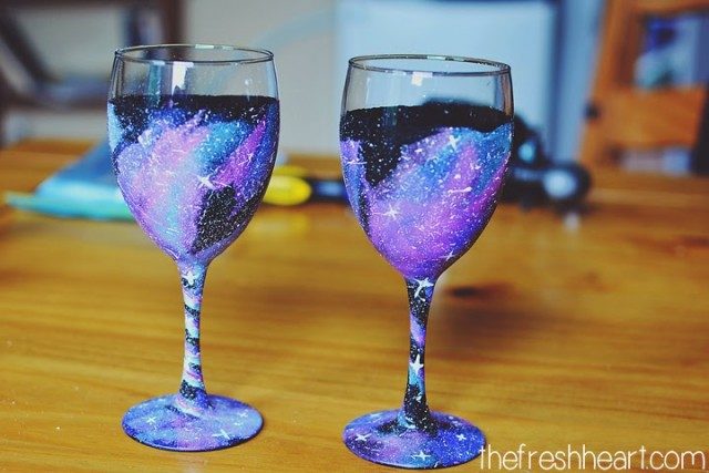 Galaxy Wine Glass DIY