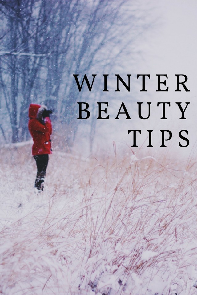 The winter months can be really rough on your skin, and your regular beauty routine might need a bit of tweaking as the snow begins to fly. Today I wanted to share a few simple beauty tips and ideas that'll help you feel your most beautiful all winter long. pic Are your heels cracking? When you get out of the shower, exfoliate with a pumice stone or something similar to slough off all of the dead skin. Then moisturize with your favourite cream -- bonus points if it's pepperminty and just for your feet! At night, you can also put an extra helping of moisturizer on your feet, then slip on some cotton socks for a sleepy skin treatment. This makes a HUGE difference for your tired, cracked, and dry footsies! Feeling like you need a trip to the spa, but you just don't have the time during the busy holiday season? Try making your own shower bombs with essential oils. Don't forget your SPF care during the winter! Just because you're not hitting the beach, doesn't mean your skin isn't craving protection. Stick with a moisturizer with a minimum 15 SPF all year long. While you're moisturizing, you should find a lip balm with SPF protection as well. This will help those dry, chapped lips from causing you grief this winter. You can always apply it under your gloss or lipstick. This might seem obvious, but please don't forget to drink water this winter! Fill up a bottle and keep it with you all day. This season gets SO super dry and you need to stay hydrated. Add a little lemon if you get bored. You can even add in some more herbal teas if that's your thing! Is your hair suffering this season? Revive your strands with a homemade hair oil treatment and a homemade hair mask. These natural recipes will help bring your lovely locks back to life! Looking for more cold weather tips? Try these avocado beauty recipes!