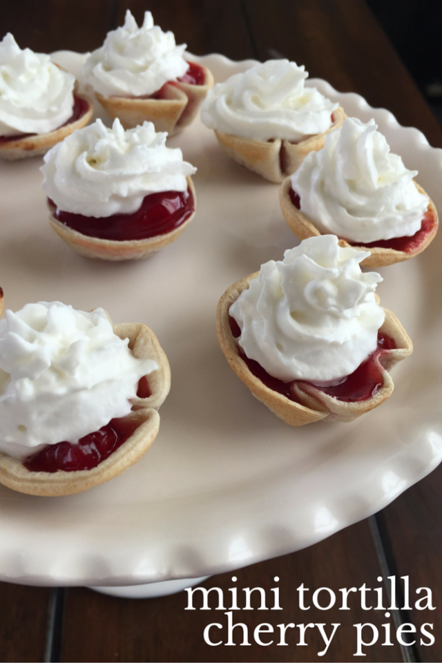 Mini Tortilla Cherry Pies