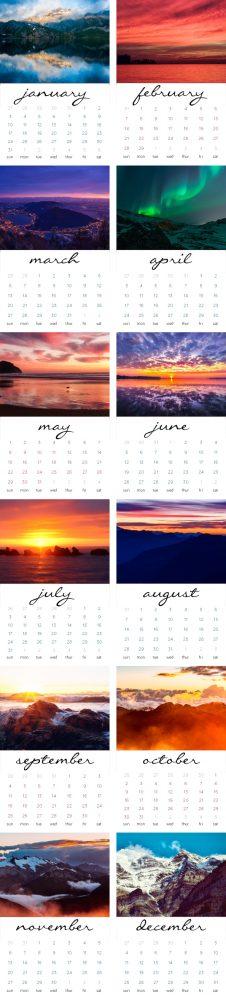 Get your free 2016 printable calendar card set from Mom Spark!