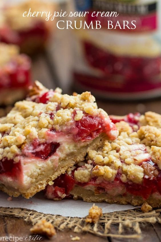 Cherry Sour Cream Pie Bars