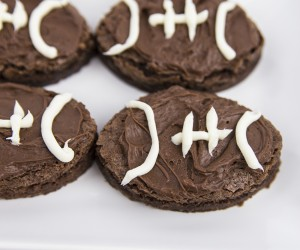 Game Day Frosted Football Brownies