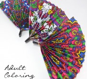 Turn your adult coloring pages into something useful... paper fans!