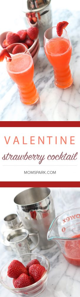 Strawberry Valentine Cocktails