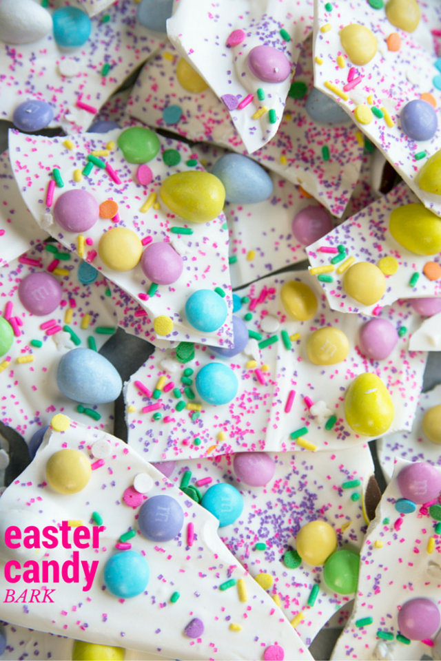 Easter Candy Bark Recipe! This recipe basically involves combining all the yummy parts of Easter candy and throwing it into one delicious bark. SO. GOOD.
