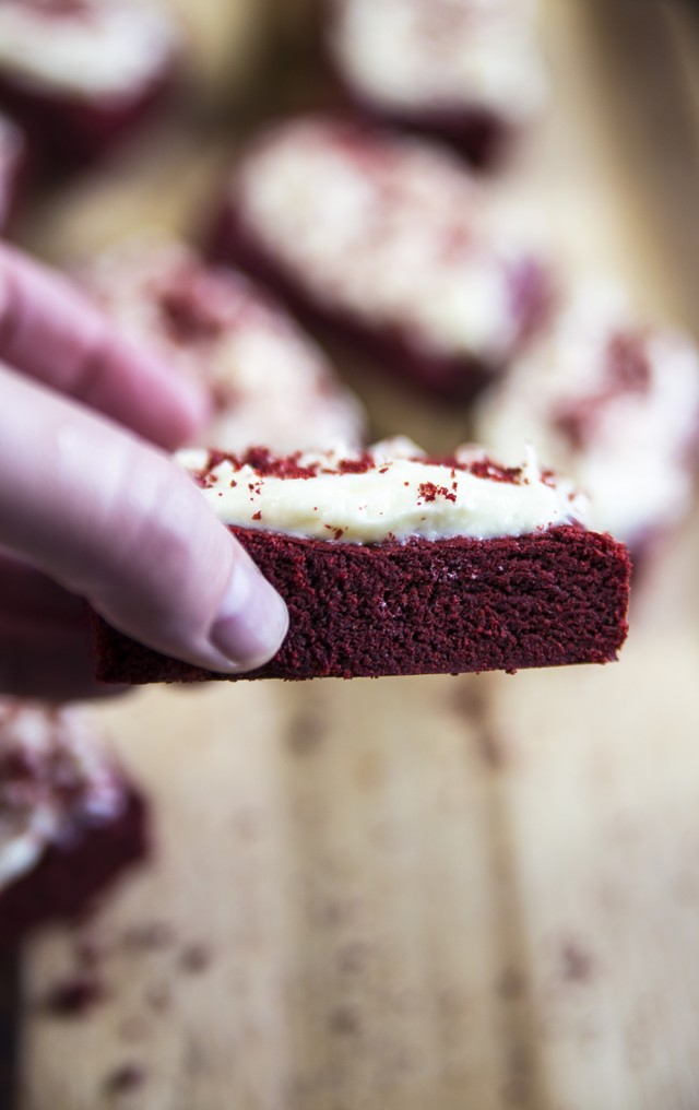 Red Velvet Bars with Cream Cheese Frosting