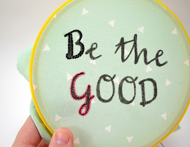 Embroidery has always been a popular craft. Get in on the action and decorate your space with super cute embroidered word hoop art!
