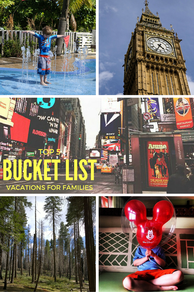 Top 5 Bucket List Vacations for Families!
