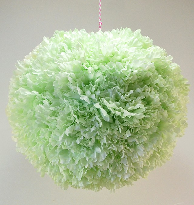 Ring in spring with a flower covered paper lantern!
