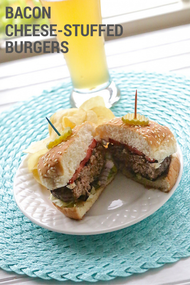 Bacon Cheese-Stuffed Burgers Recipe