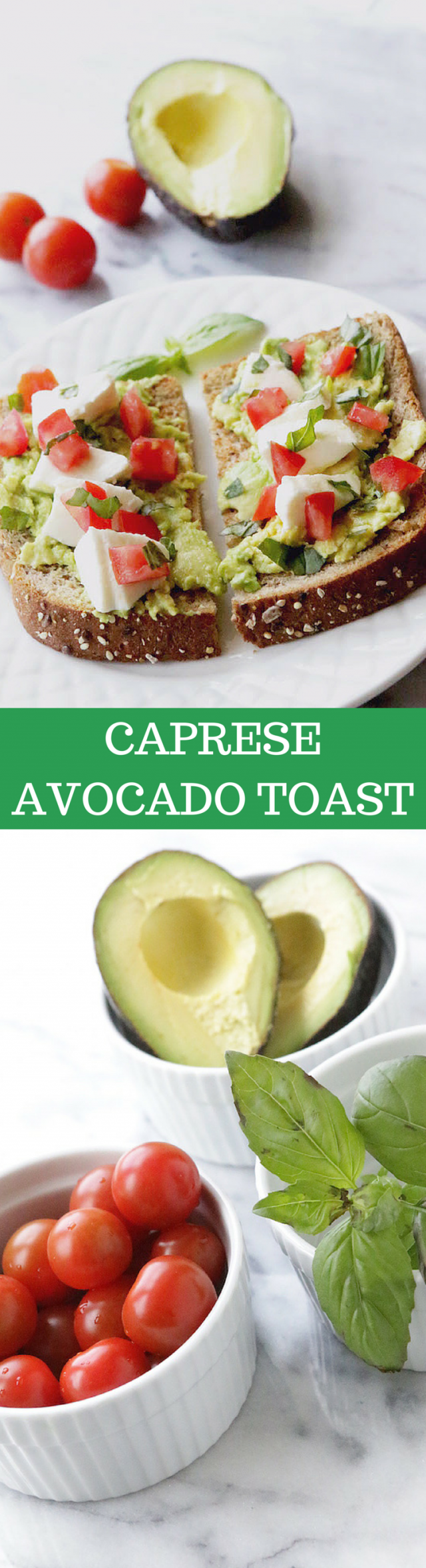 Caprese Avocado Toast Recipe