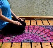 Have the most amazing yoga mat in the studio with this simple mandala yoga mat tutorial!