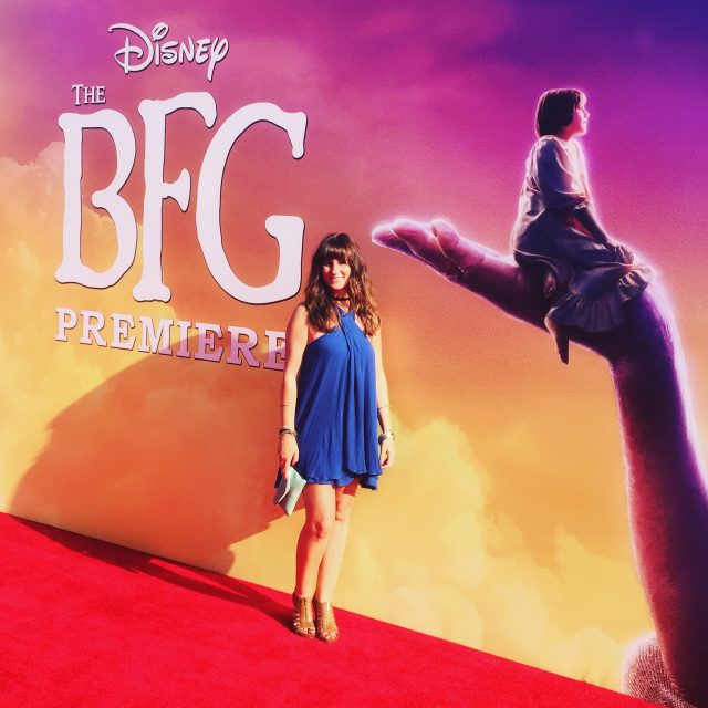 Amy Bellgardt of Mom Spark on The BFG Red Carpet Movie Premiere Event