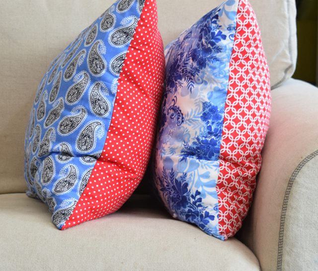 Grab a few fat quarters and you're on your way to inexpensive throw pillows. Even if you're a new sewist I can show you how!