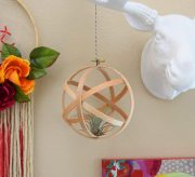 These embroidery hoop orbs are simple to make, inexpensive and super on trend. They're the perfect place for little air plants, too!