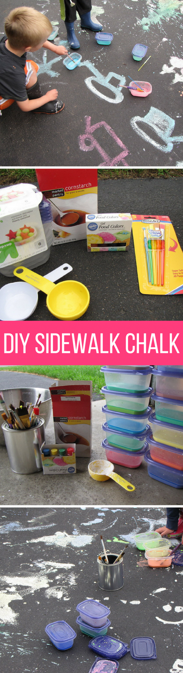 DIY: Homemade Sidewalk Chalk Paint
