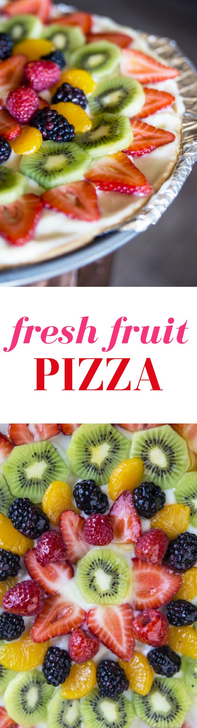 Fresh Fruit Pizza Dessert Recipe The perfect summer treat, friends. Fresh fruit with a sugar cookie crust....it's to die for.