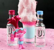 Trolls Movie Shooters with Cake and Whipped Cream Vodka Drink Recipe