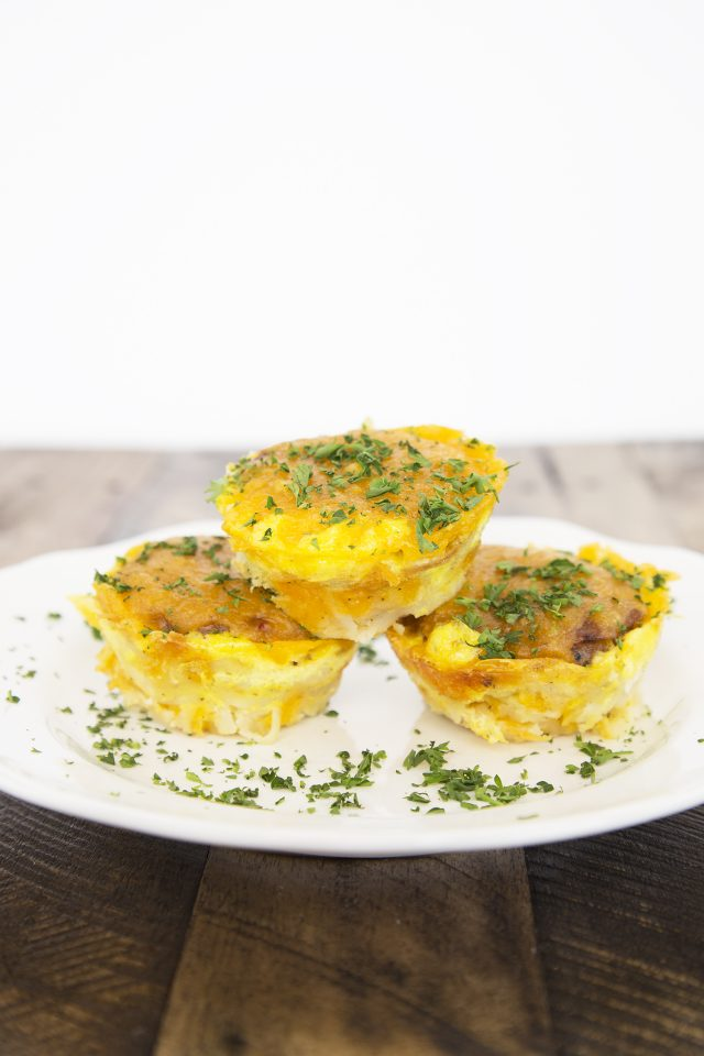 Sausage, Cheese & Egg Breakfast Hash Brown Nests Recipe