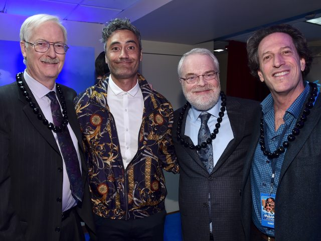 Director John Musker, Story Consultant Taika Waititi, director Ron Clements, and Walt Disney Animation Studios President Andrew Millstein (Photo by Alberto E. Rodriguez/Getty Images for Disney)