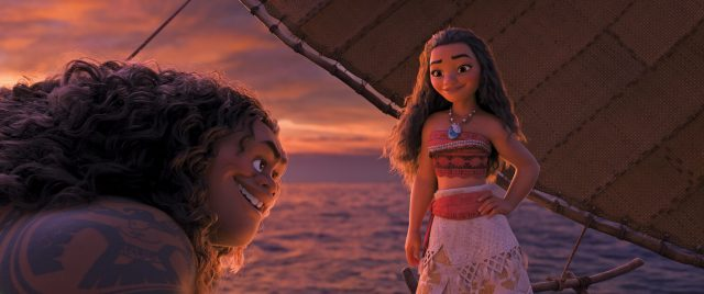 "o help adventurous teenager Moana (voice of Auli'i Cravalho), who is determined to become a master wayfinder and save her people. But Moana is destined to win him over with her charm, strength and unbridled spunk. Directed by Ron Clements and John Musker, produced by Osnat Shurer, and featuring music by Lin-Manuel Miranda, Mark Mancina and Opetaia Foa'i, ""Moana"" sails into U.S. theaters on Nov. 23, 2016. ©2016 Disney. All Rights Reserved."