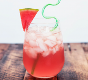 Watermelon Vodka Spritzer Drink Recipe