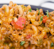 One Skillet Cheesy Sausage Mac Recipe