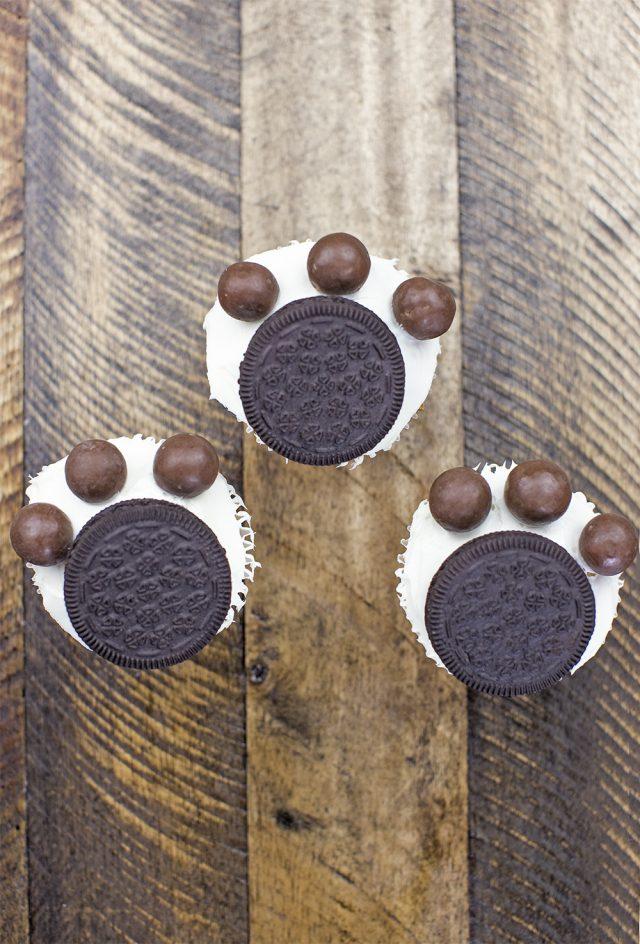 Dog Paw Print Cupcake Recipe