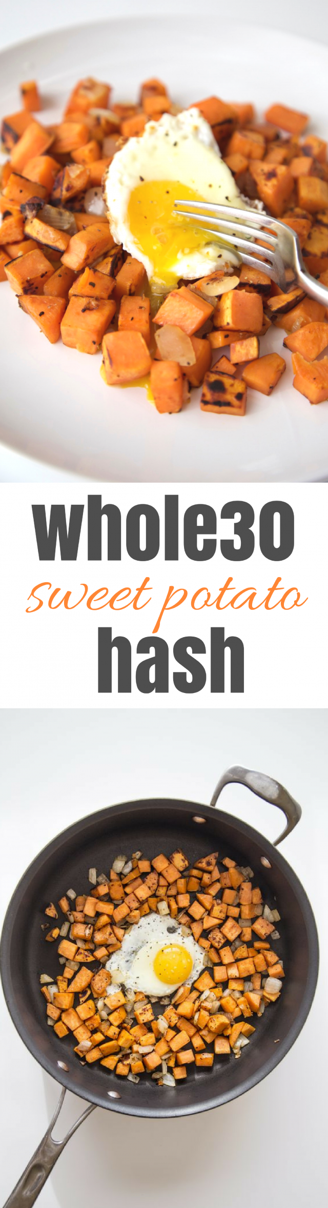 Whole30 Whole 30 Sweet Potato Hash with Fried Egg
