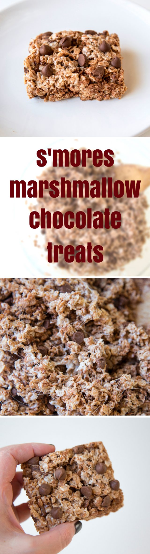 Cinnamon Pebbles S'mores Marshmallow and Chocolate Treats