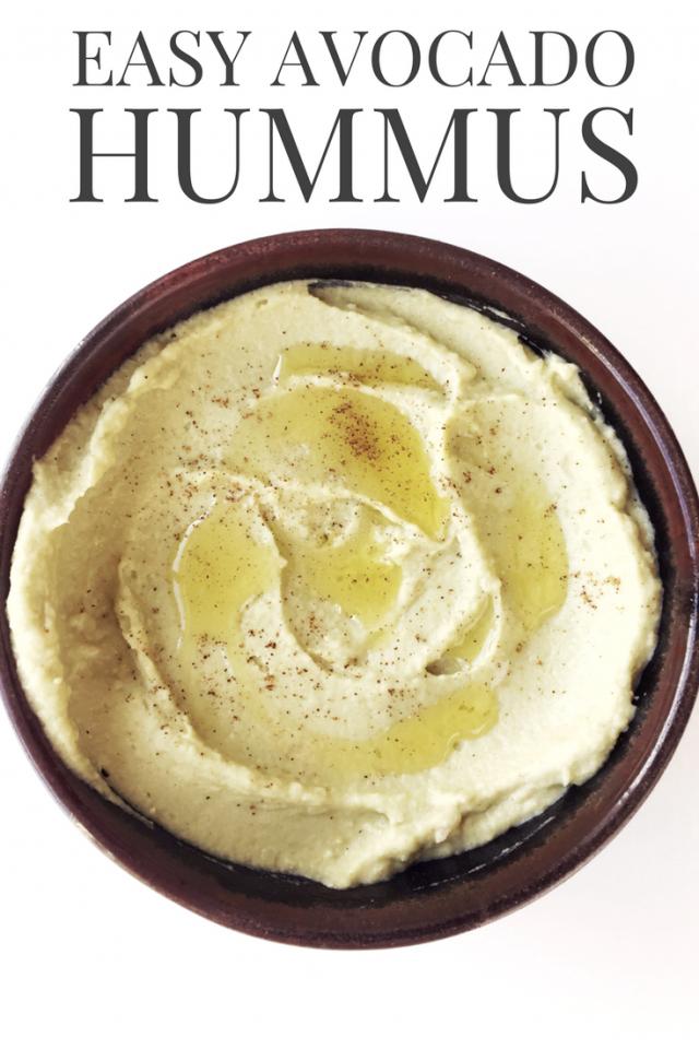 Easy Creamy Avocado Hummus Dip Recipe