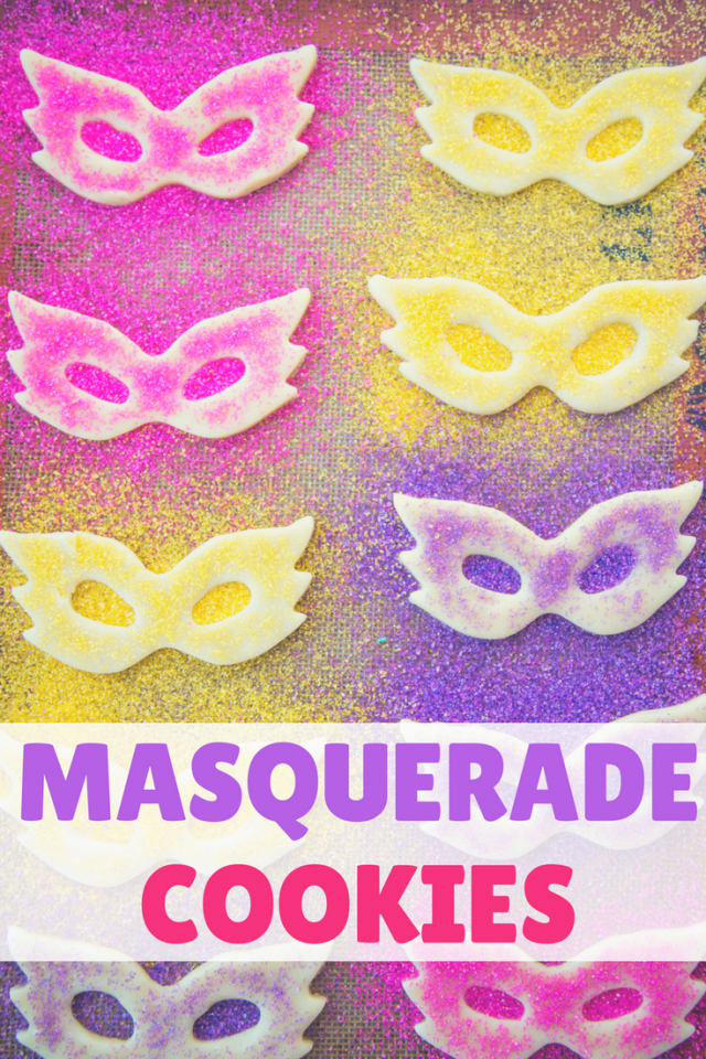 Colorful Masquerade Mask Cookie Recipe